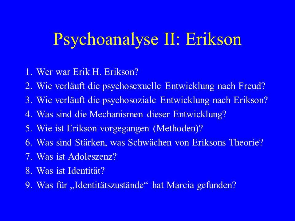 Psychoanalyse II: Erikson