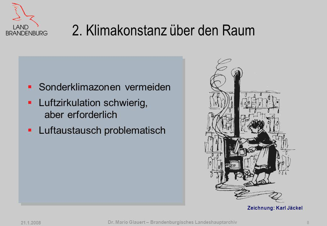 2. Klimakonstanz über den Raum