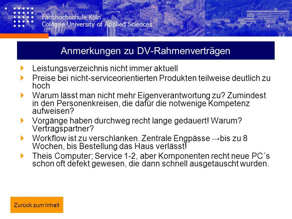 Anmerkungen zu DV-Rahmenverträgen