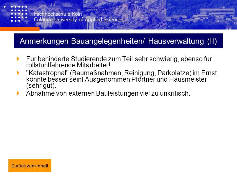 Anmerkungen Bauangelegenheiten/ Hausverwaltung (II)