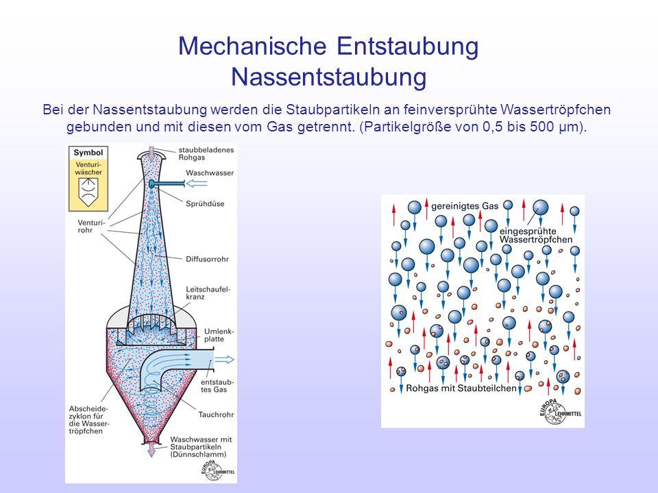 Mechanische Entstaubung Nassentstaubung