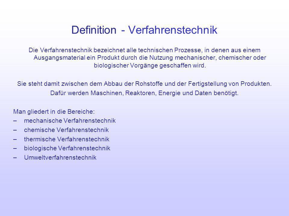 Definition - Verfahrenstechnik