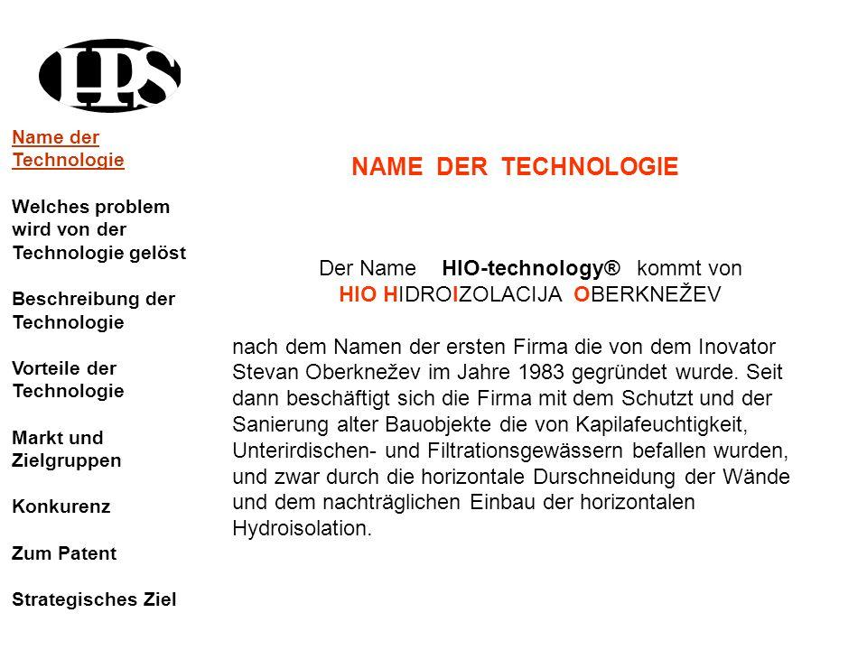 NAME DER TECHNOLOGIE Der Name HIO-technology® kommt von