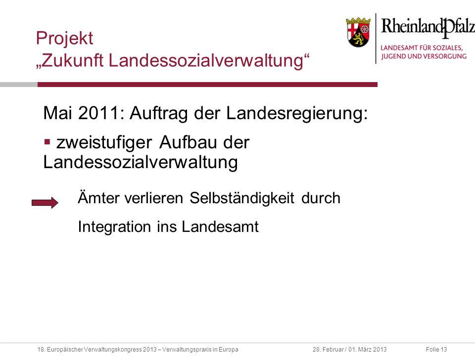 """Projekt """"Zukunft Landessozialverwaltung"""
