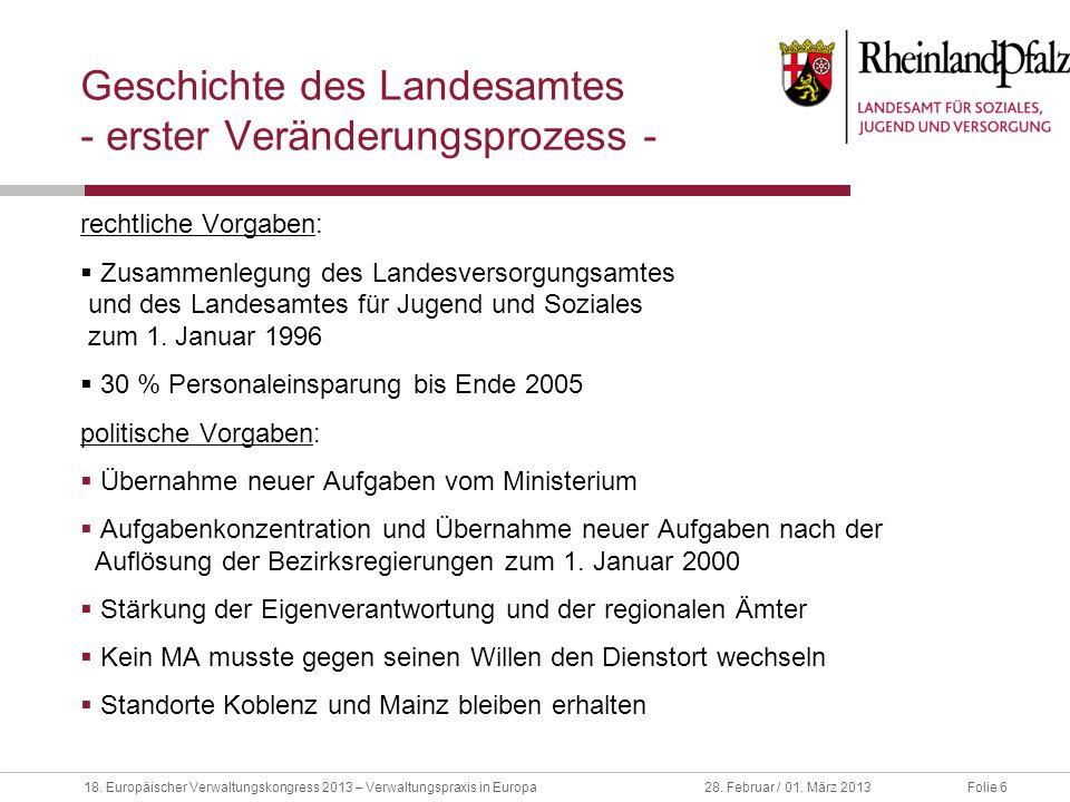 Geschichte des Landesamtes - erster Veränderungsprozess -