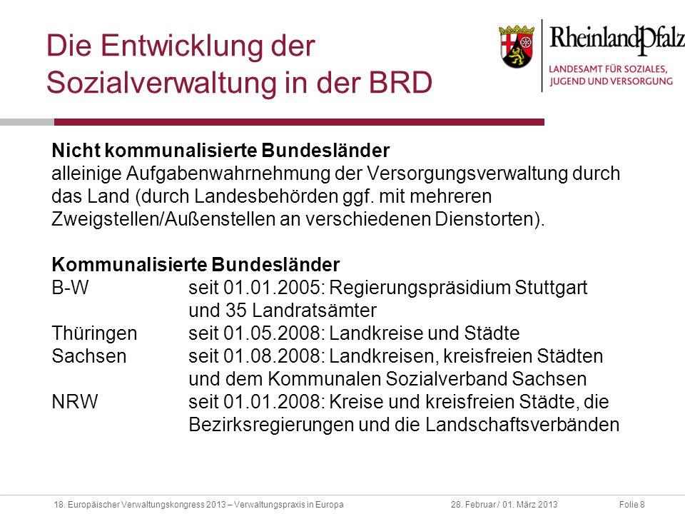 Die Entwicklung der Sozialverwaltung in der BRD