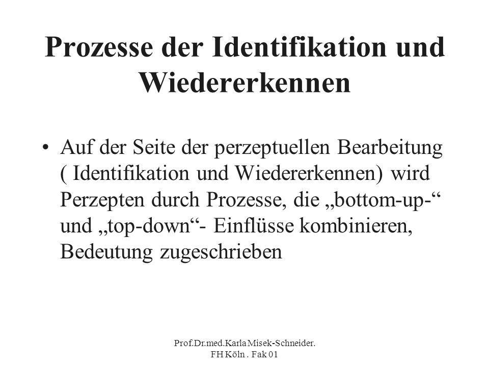 Prozesse der Identifikation und Wiedererkennen