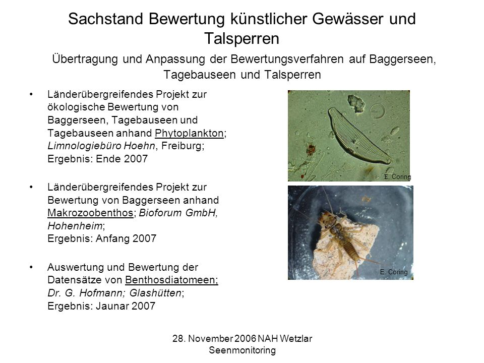 28. November 2006 NAH Wetzlar Seenmonitoring