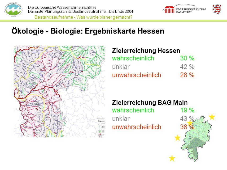 Ökologie - Biologie: Ergebniskarte Hessen