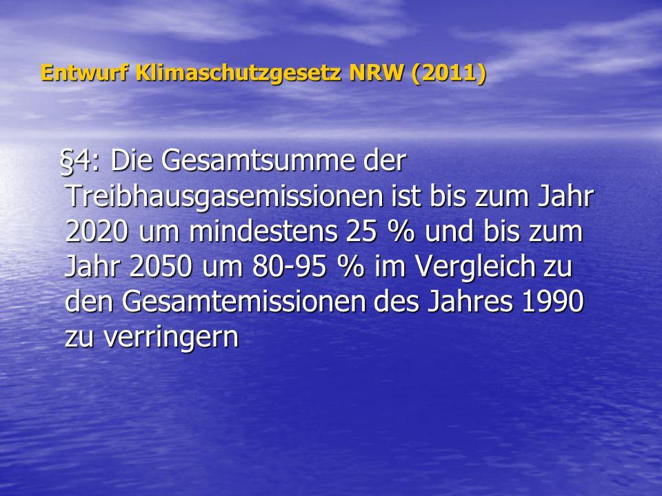 Entwurf Klimaschutzgesetz NRW (2011)