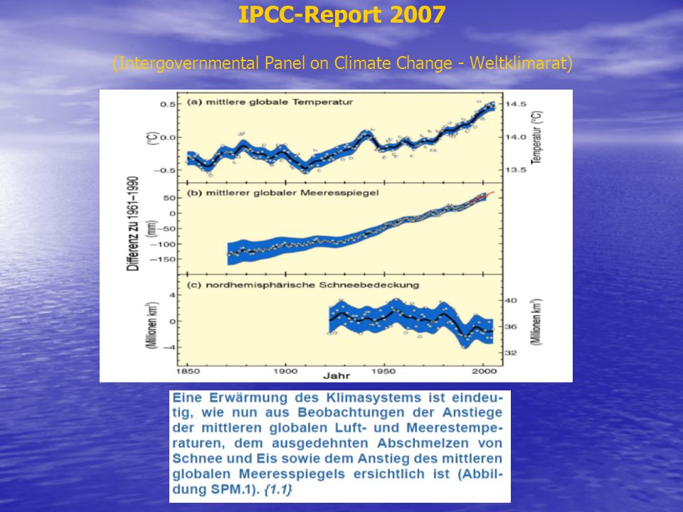 IPCC-Report 2007 (Intergovernmental Panel on Climate Change - Weltklimarat)