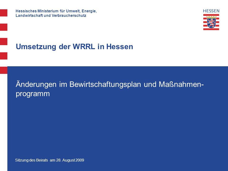Umsetzung der WRRL in Hessen