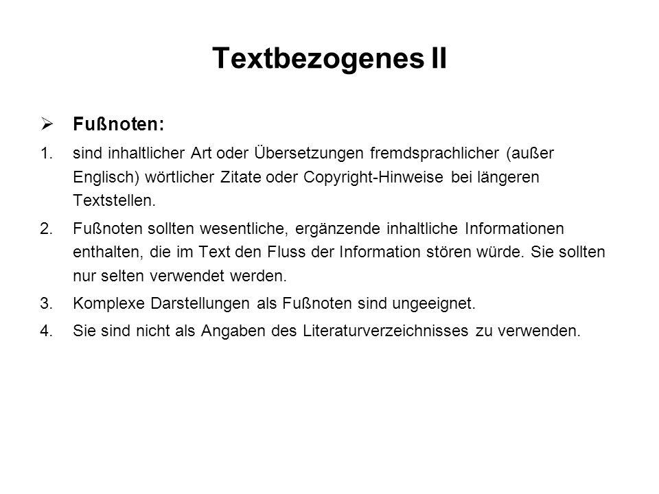 Textbezogenes II Fußnoten: