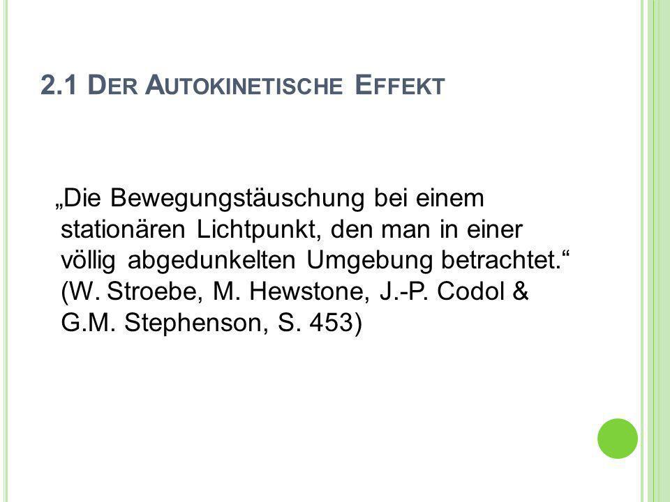 2.1 Der Autokinetische Effekt