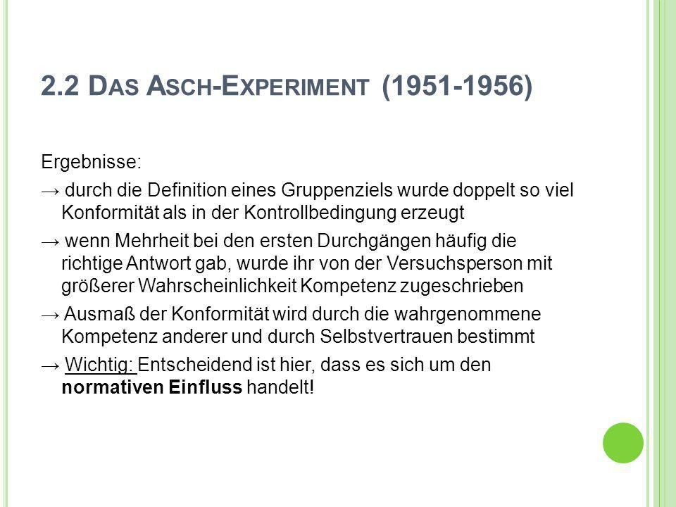 2.2 Das Asch-Experiment (1951-1956)