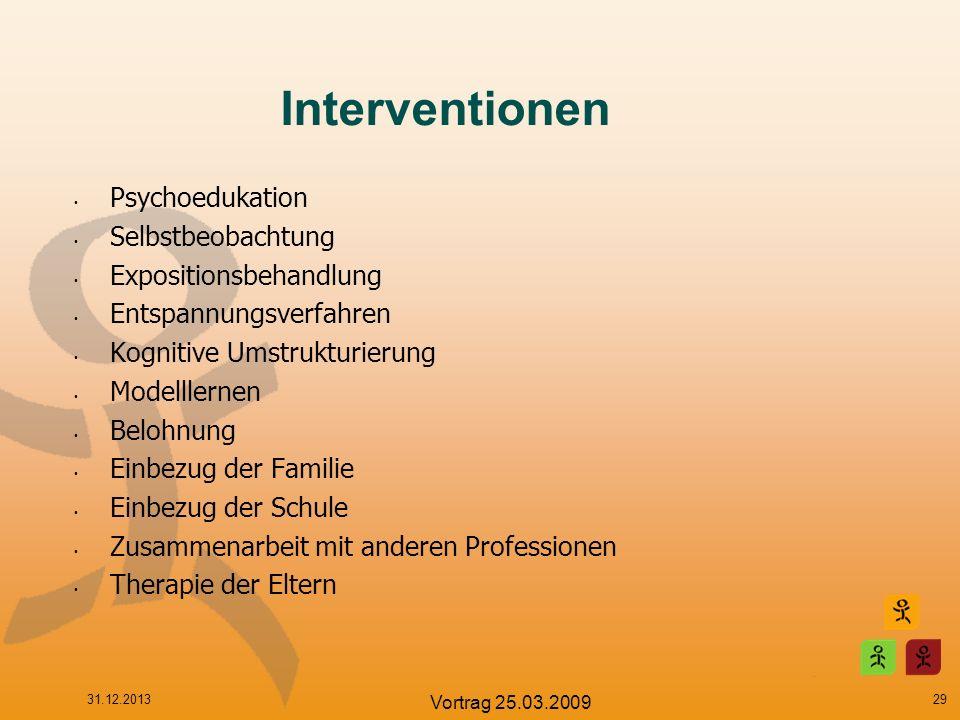 Interventionen Psychoedukation Selbstbeobachtung Expositionsbehandlung