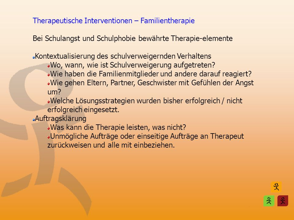 Therapeutische Interventionen – Familientherapie
