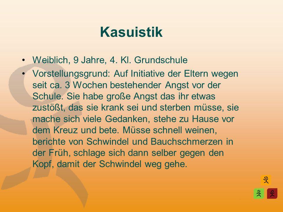Kasuistik Weiblich, 9 Jahre, 4. Kl. Grundschule