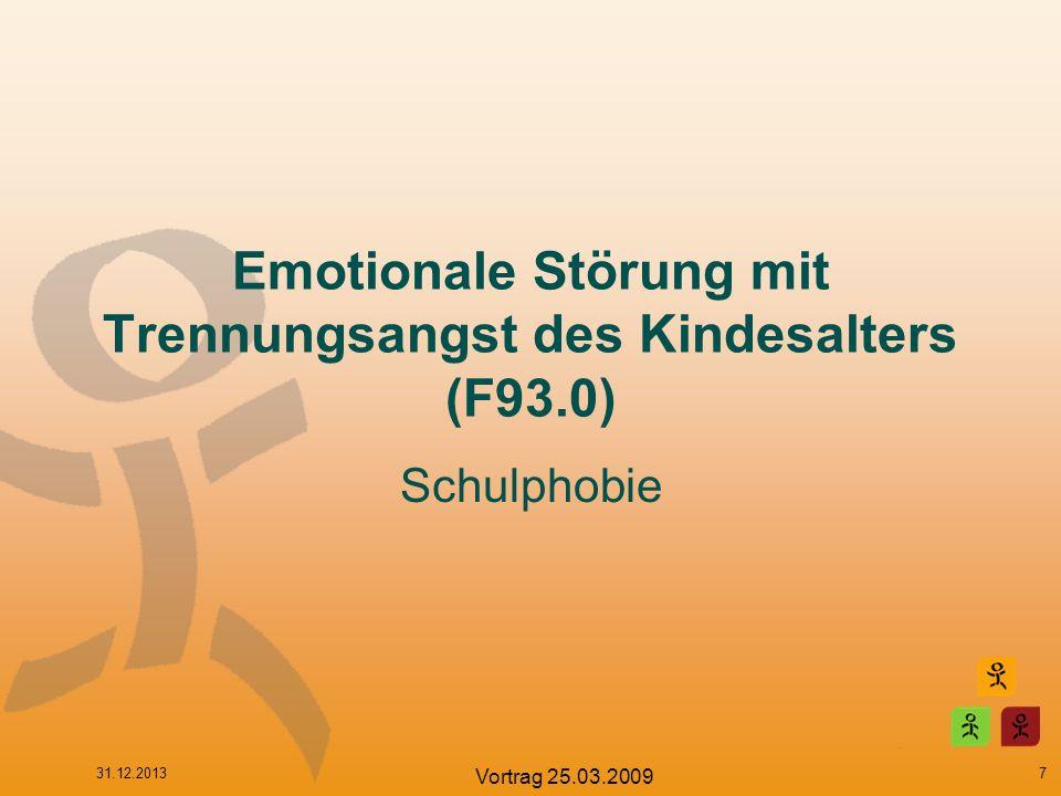 Emotionale Störung mit Trennungsangst des Kindesalters (F93.0)