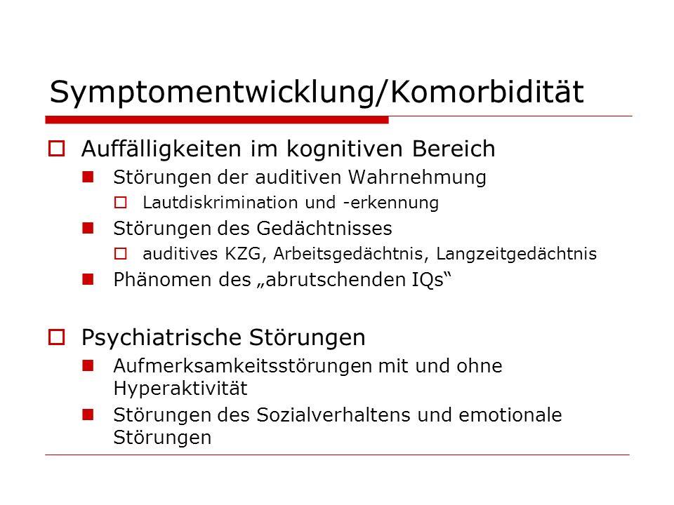 Symptomentwicklung/Komorbidität