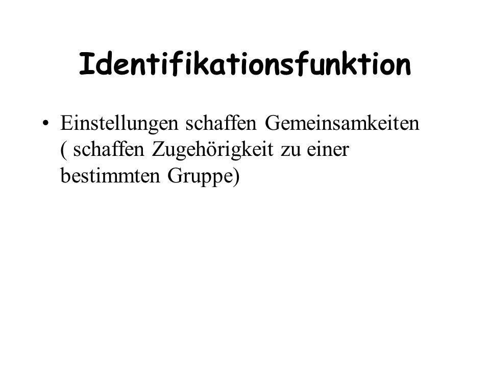 Identifikationsfunktion