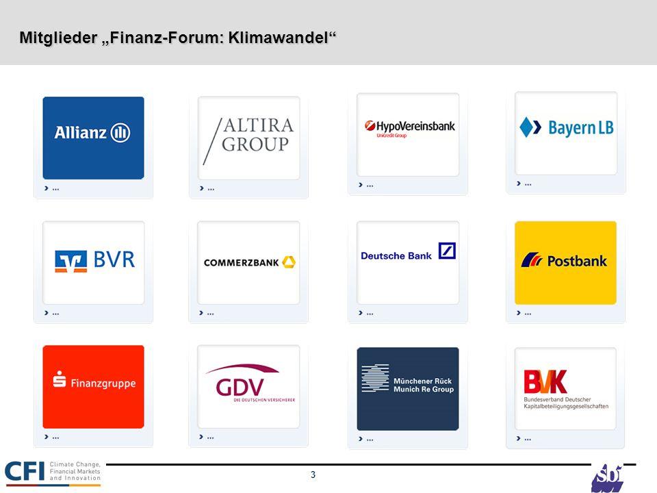 """Mitglieder """"Finanz-Forum: Klimawandel"""