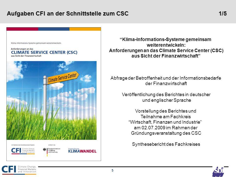 Aufgaben CFI an der Schnittstelle zum CSC 1/5