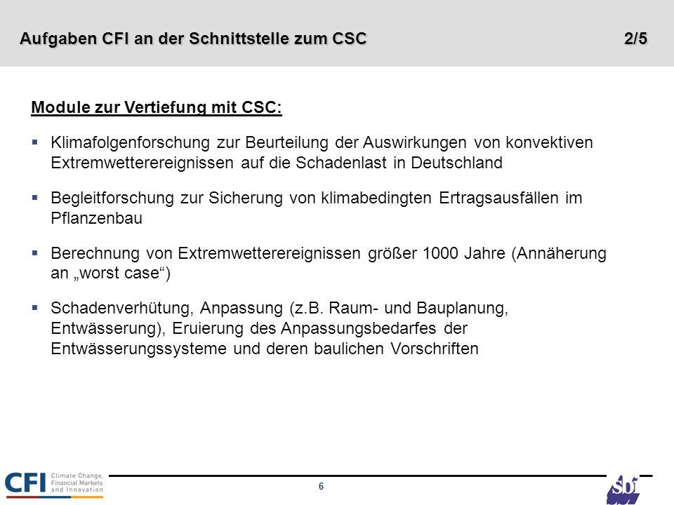 Aufgaben CFI an der Schnittstelle zum CSC 2/5