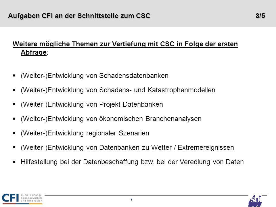 Aufgaben CFI an der Schnittstelle zum CSC 3/5