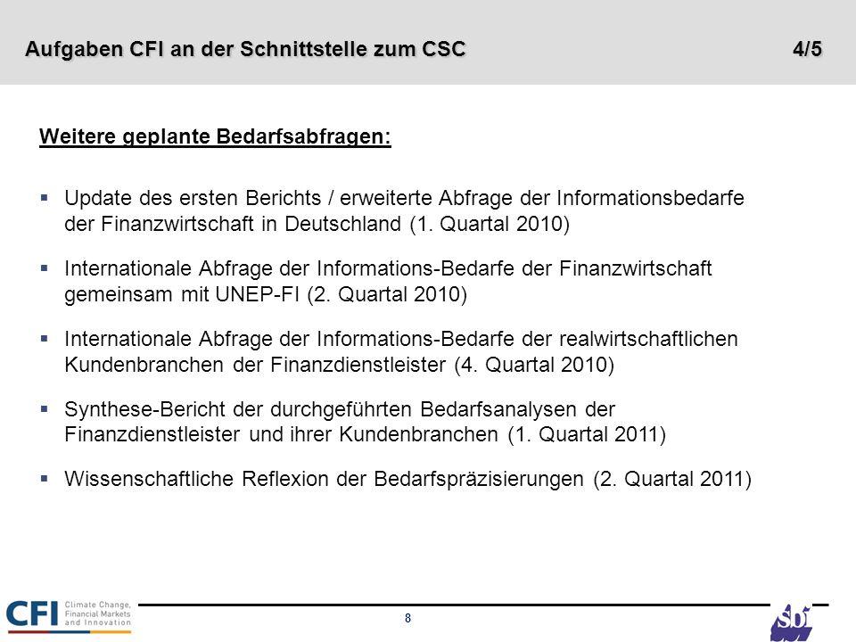 Aufgaben CFI an der Schnittstelle zum CSC 4/5