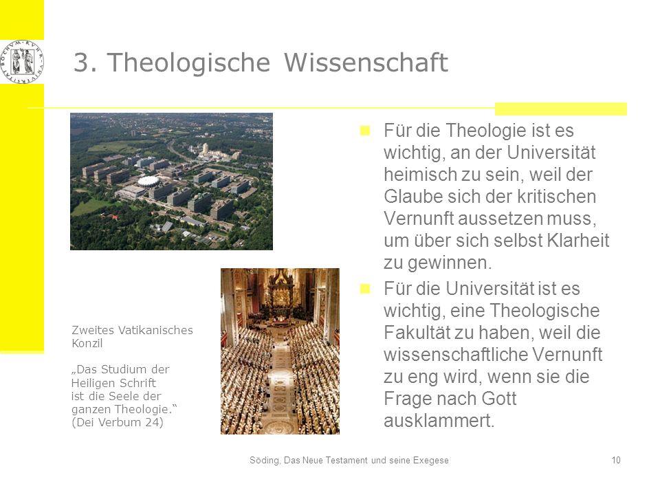 3. Theologische Wissenschaft