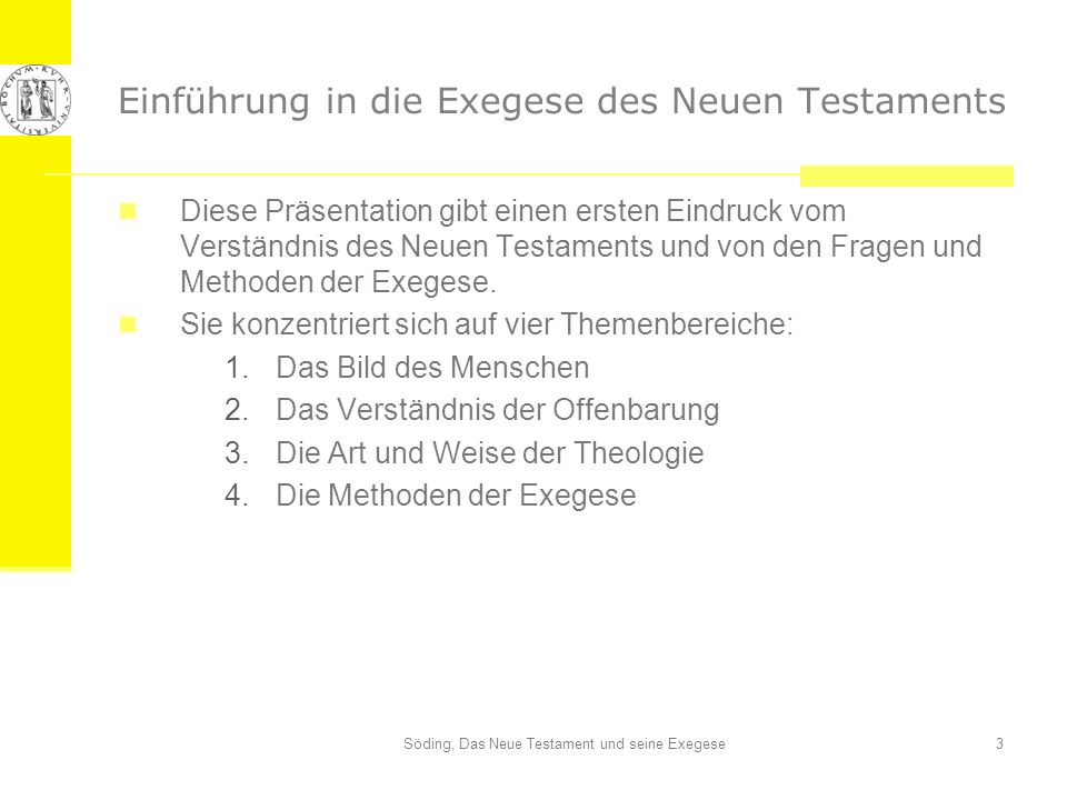 Einführung in die Exegese des Neuen Testaments
