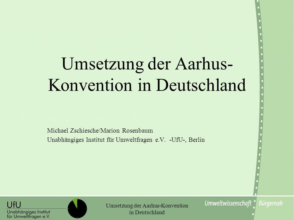Umsetzung der Aarhus-Konvention in Deutschland