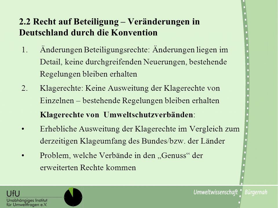 2.2 Recht auf Beteiligung – Veränderungen in Deutschland durch die Konvention