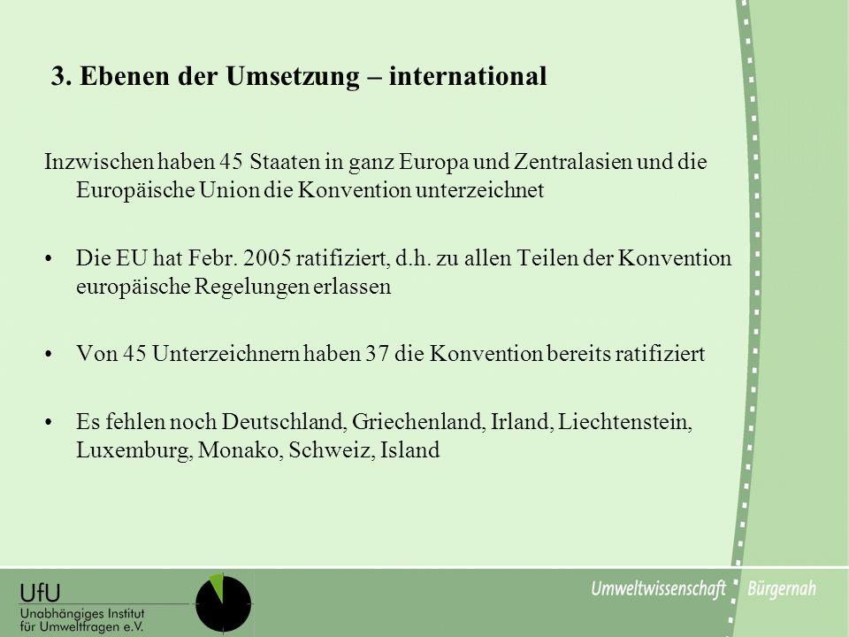 3. Ebenen der Umsetzung – international