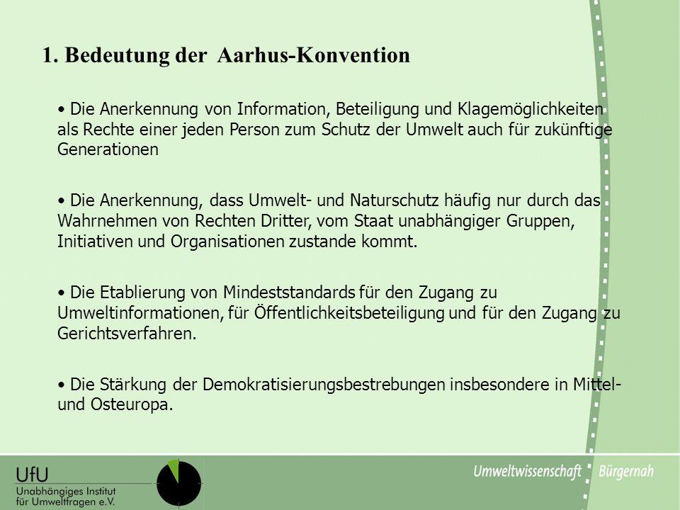 1. Bedeutung der Aarhus-Konvention