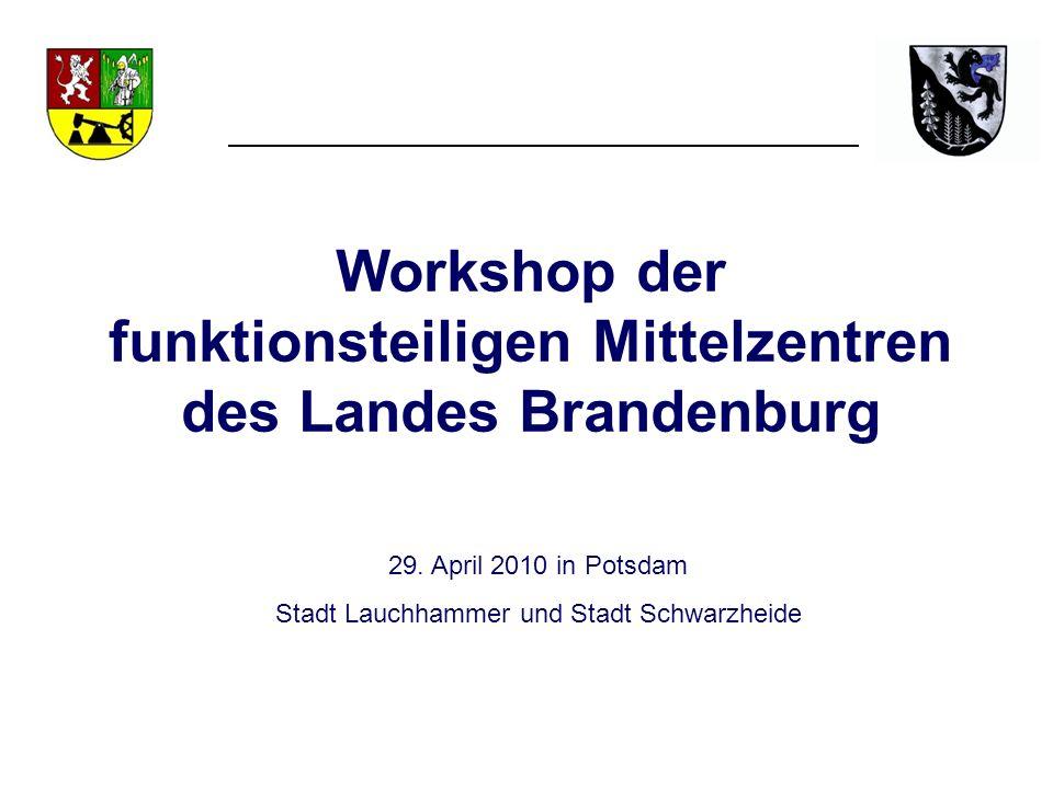 Workshop der funktionsteiligen Mittelzentren des Landes Brandenburg