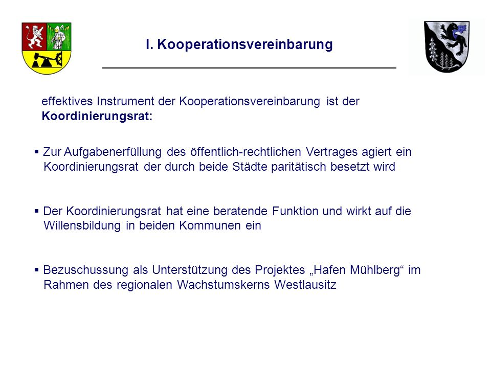 I. Kooperationsvereinbarung