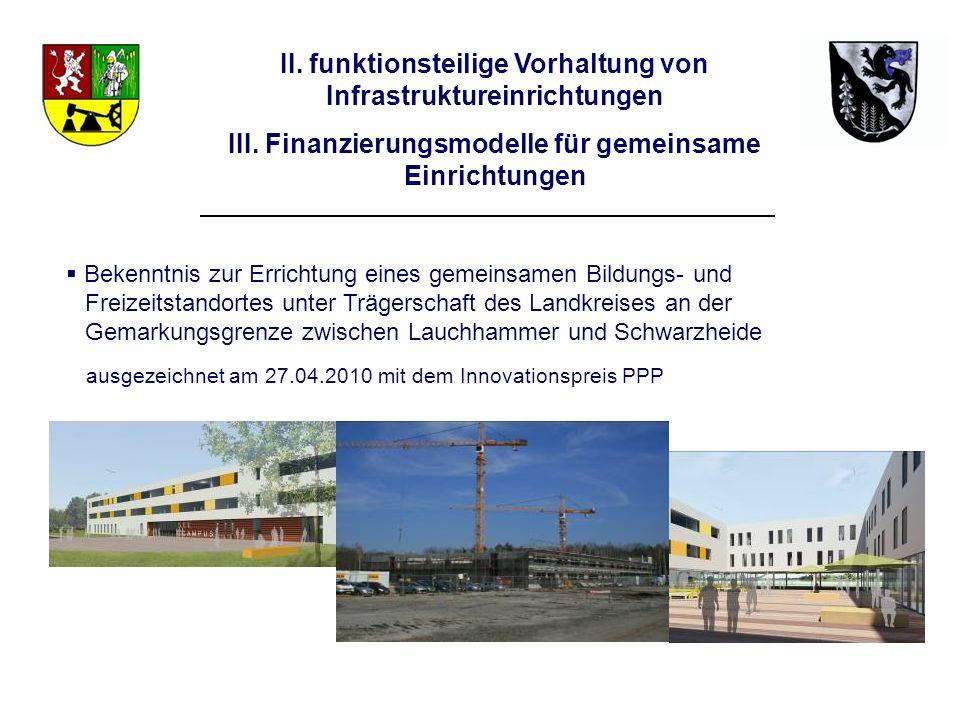 II. funktionsteilige Vorhaltung von Infrastruktureinrichtungen
