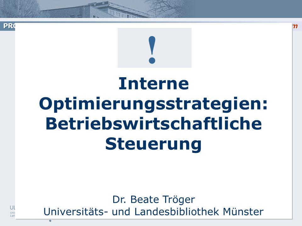 Interne Optimierungsstrategien: Betriebswirtschaftliche Steuerung