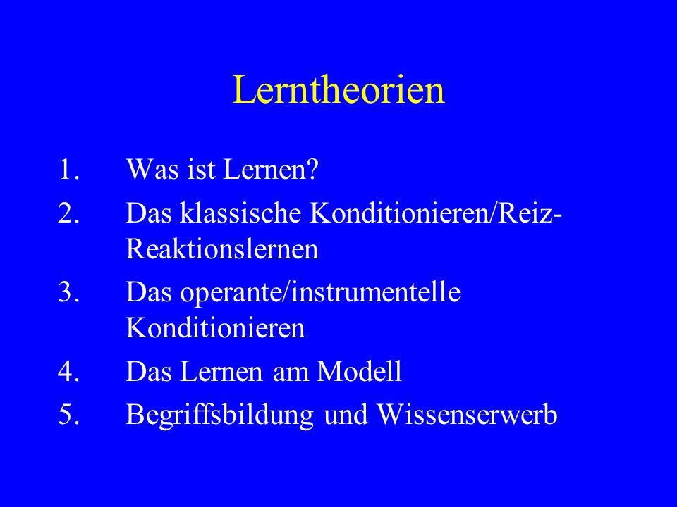 Lerntheorien 1. Was ist Lernen