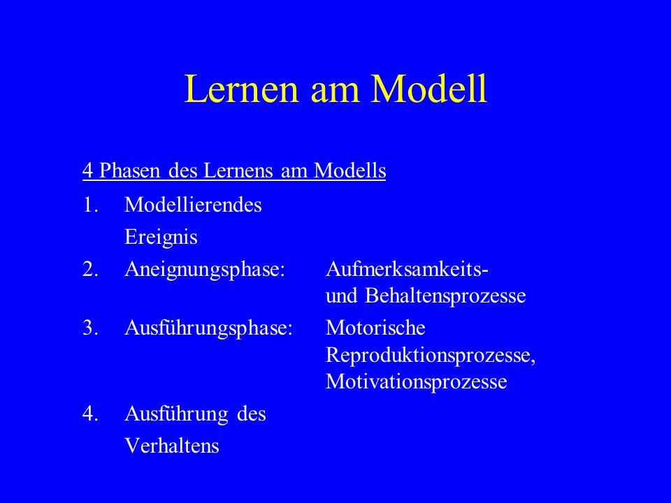 Lernen am Modell 4 Phasen des Lernens am Modells 1. Modellierendes