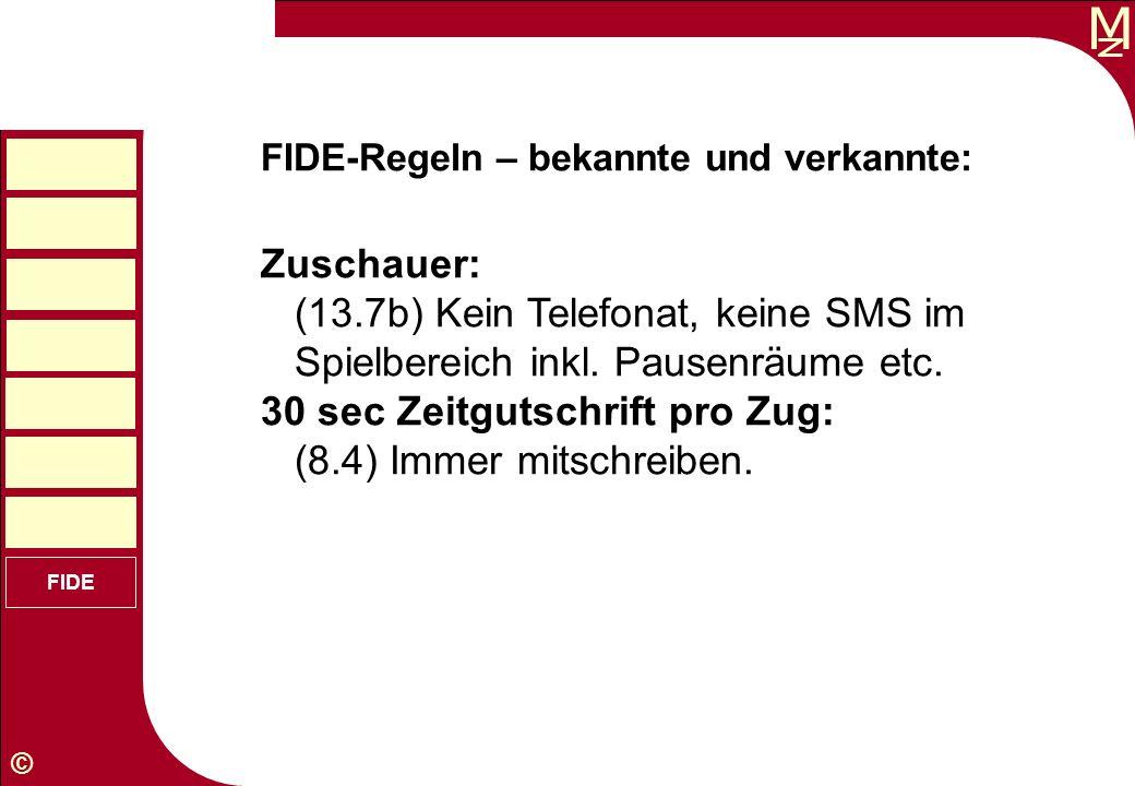30 sec Zeitgutschrift pro Zug: (8.4) Immer mitschreiben.