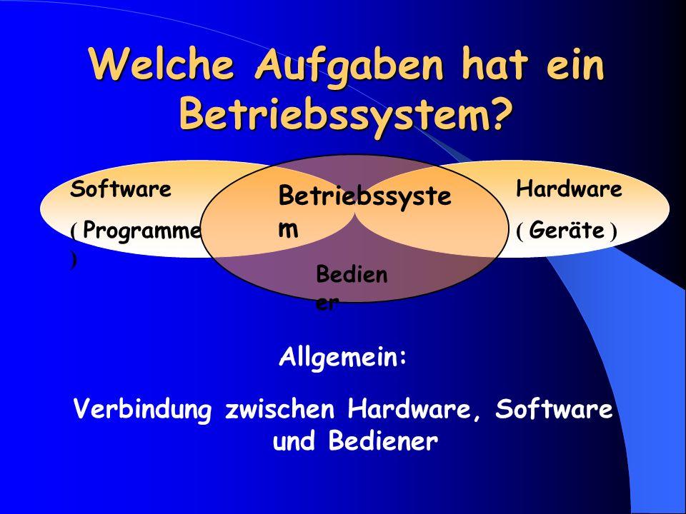 Welche Aufgaben hat ein Betriebssystem