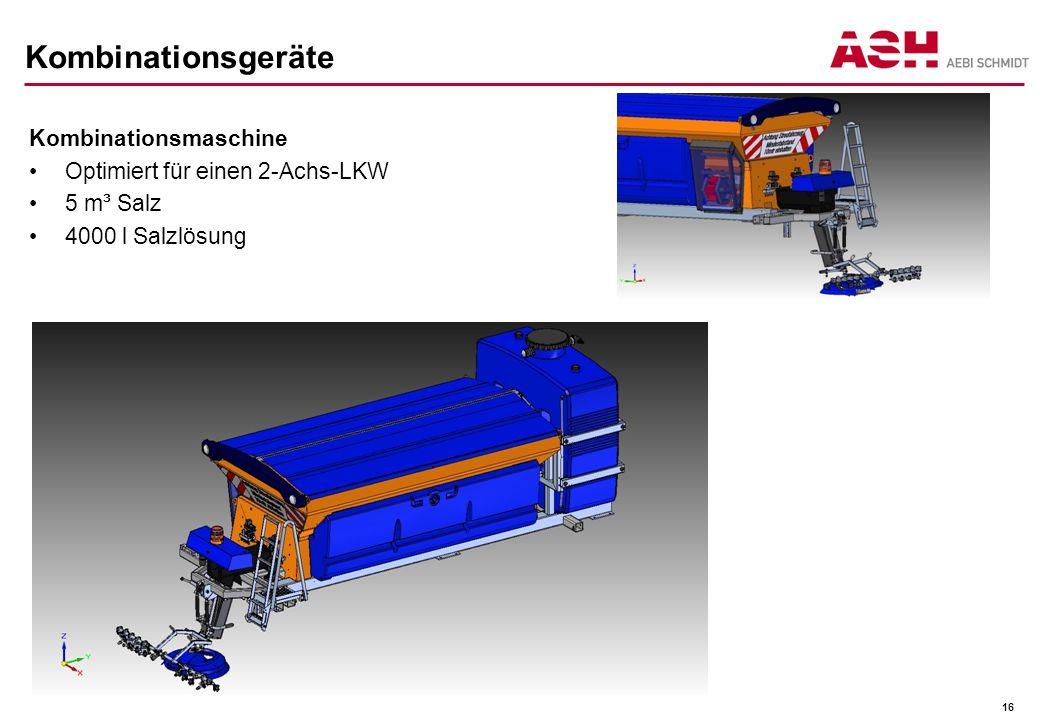 Kombinationsgeräte Kombinationsmaschine Optimiert für einen 2-Achs-LKW