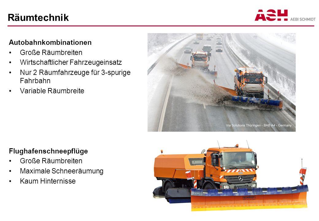 Räumtechnik Autobahnkombinationen Große Räumbreiten