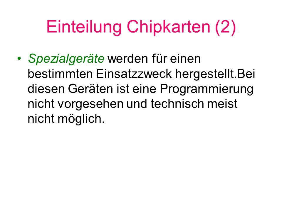 Einteilung Chipkarten (2)