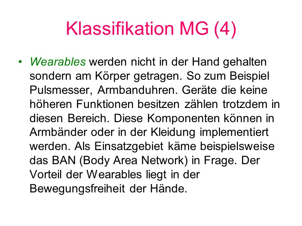Klassifikation MG (4)