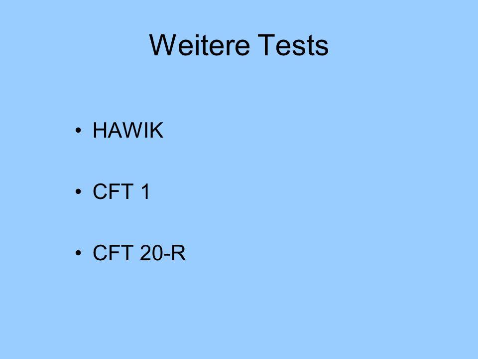 Weitere Tests HAWIK CFT 1 CFT 20-R