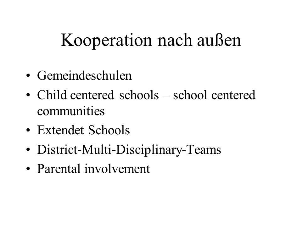 Kooperation nach außen